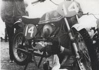 Oude motor van Arjan Brouwer