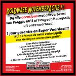 Spectaculaire Novemberacties bij Arjan Brouwer met Piaggio MP3 en Peugeot Metropolis!